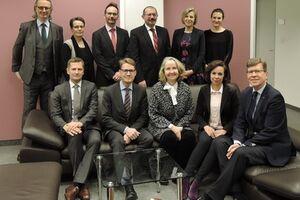 Gruppenbild: Präsidium des Österreichischen und Finnischen Patentamts