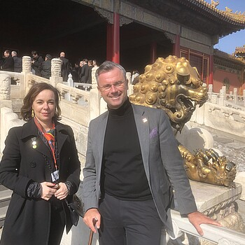 Patentamtspräsidentin Karepova und Bundesminister Hofer in Peking