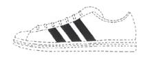 Turnschuh der Marke Adidas, Unionsmarke Nr. 3517646