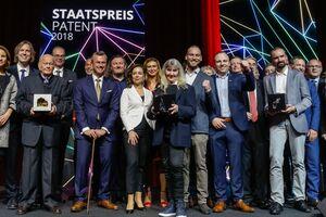 Preisträger/innen des Staatspreis Patent mit Bundesminister Norbert Hofer und Patentamtspräsidentin Mariana Karepova sowie Jury