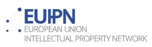 Logo des European Union Intellectual Property Neworks: Großbuchstaben EUIPN, davor ein Geflecht aus Punkten und Linien.