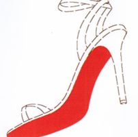 Schuh mit roter Sohle, Christian Louboutin
